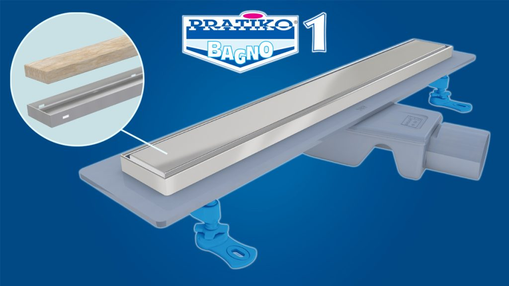 Pratiko Bagno 1 ABS siphoned channel