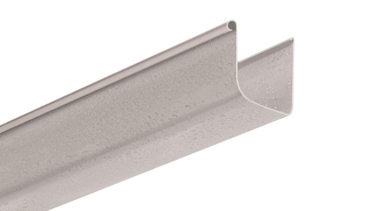 PVC rain gutter profile 100x110