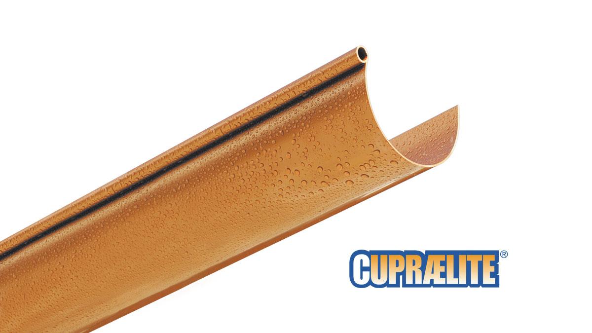 Copper effect rain gutter CUPRAELITE 125