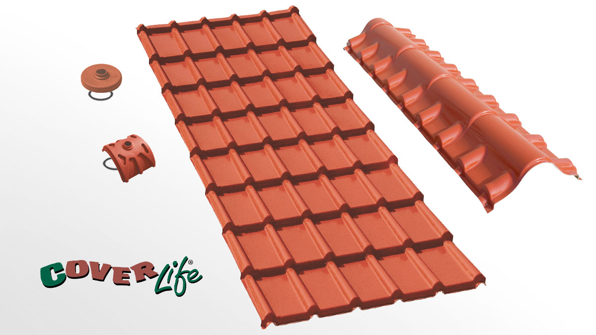 Residential roofing sheet - Lastra Tegola