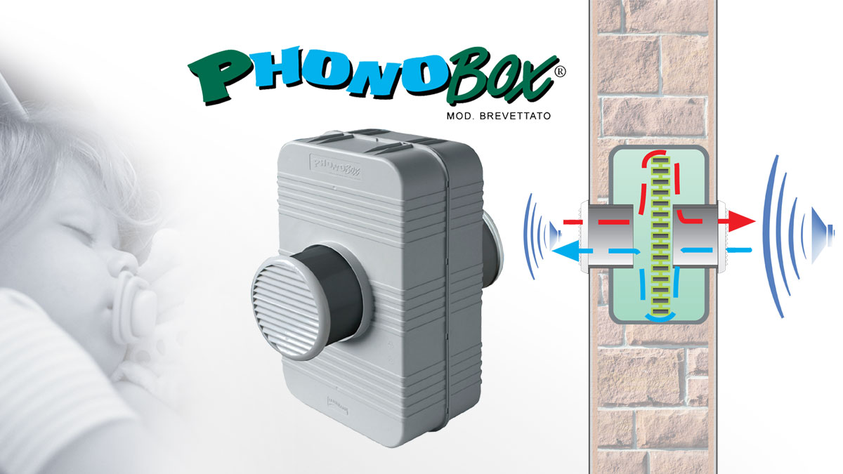 Acoustic insulation system for ventilation holes - Phonobox