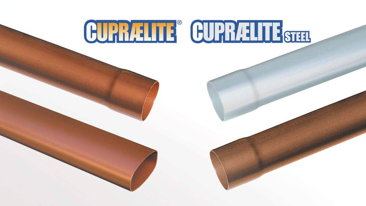 CUPRAELITE Downpipes with metal effect