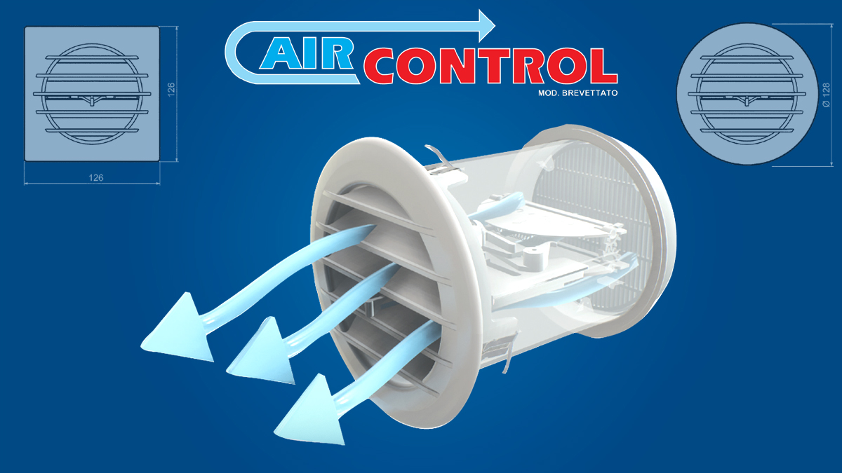 Air vent with thermostatic valve AIRCONTROL