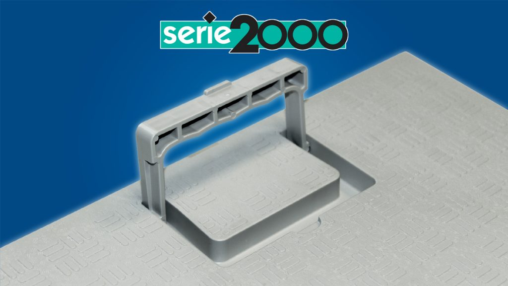 Anti-shock PVC cover with handle