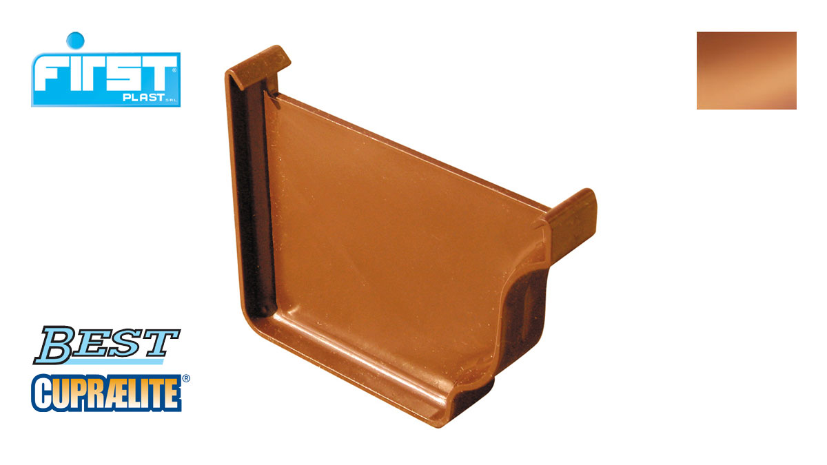 Copper Effect Stopend For Gutter Cupraelite Best First