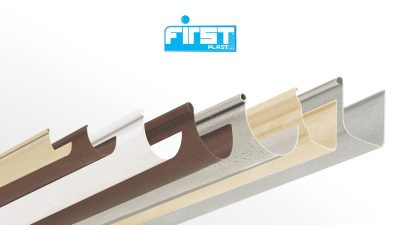 PVC rain gutter profile