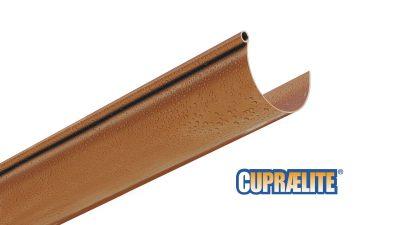 Antique copper effect rain gutter CUPRAELITE 125