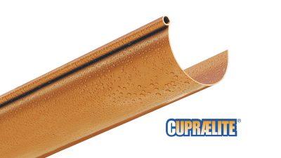 Copper effect rain gutter CUPRAELITE 133