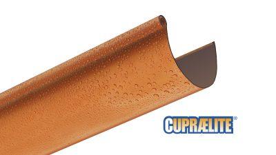 Copper effect rain gutter CUPRAELITE 145
