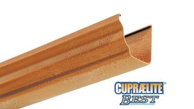 Copper effect rain gutter CUPRAELITE BEST