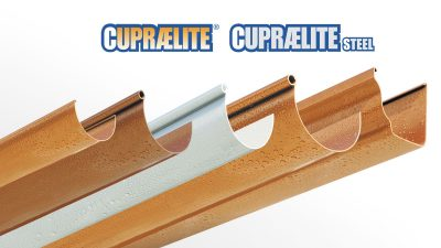 CUPRAELITE metal effect gutter profile