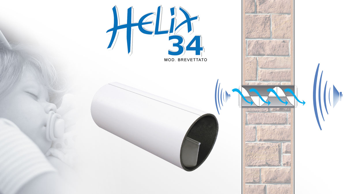Acoustic reducer for ventilation holes - Helix34